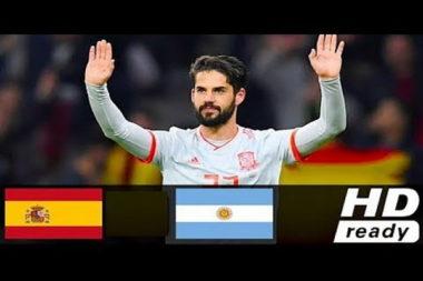 ทีมชาติสเปน VS ทีมชาติอาร์เจนติน่า